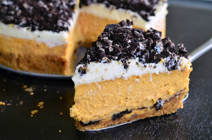 Layered Oreo Pumpkin Cheesecake 7