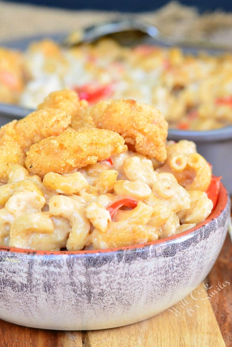 Po'Boy Mac and Cheese | from willcookforsmiles.com