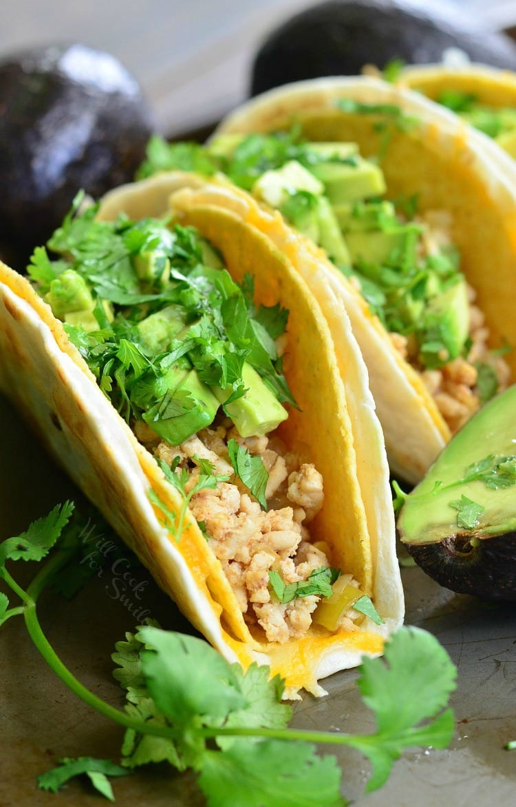 Avocado Turkey Tacos.