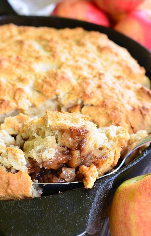 Maple Pecan Apple Cobbler Skillet.
