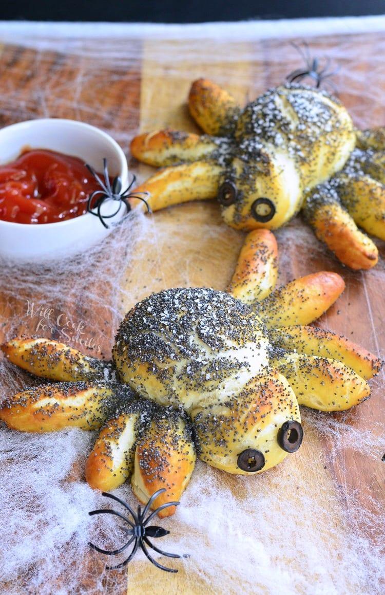 Pretzel Spiders | from willcookforsmiles.com