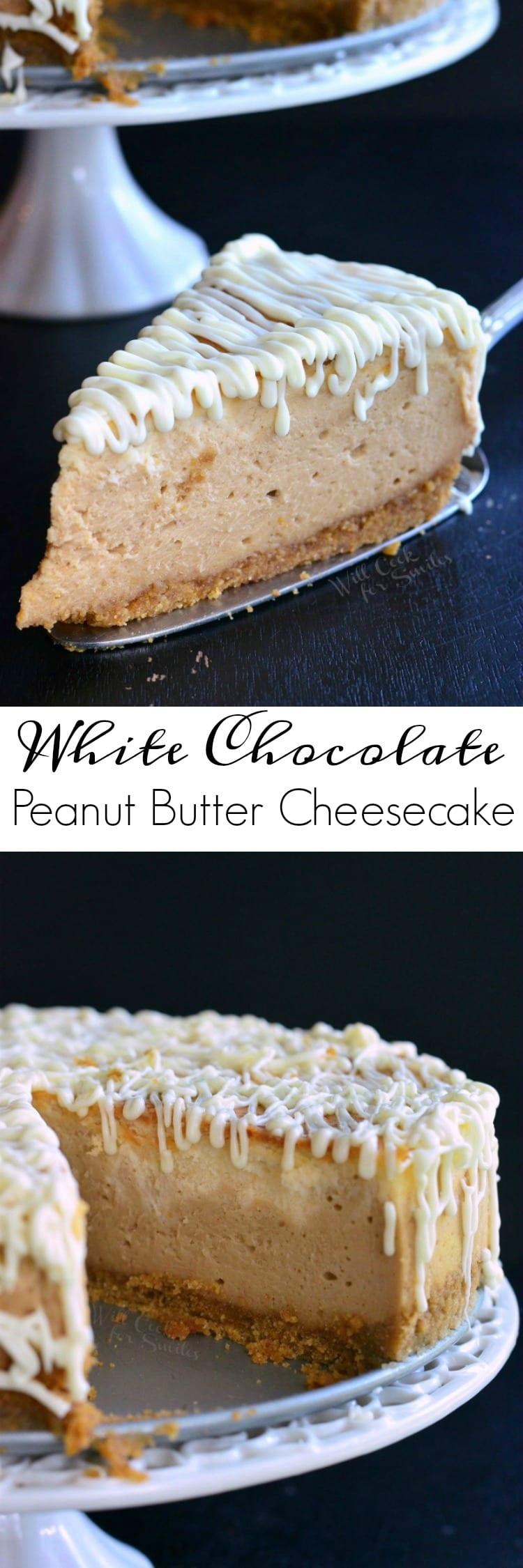 Spider Web Cheesecake (White Chocolate Peanut Butter Cheesecake ...