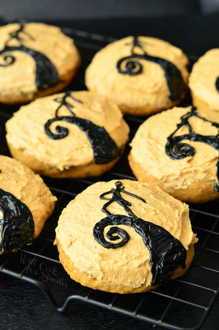The Nightmare Before Christmas Pumpkin Cookies | from willcookforsmiles.com