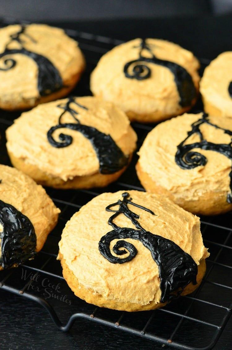 The Nightmare Before Christmas Pumpkin Cookies | from willcookforsmiles.com