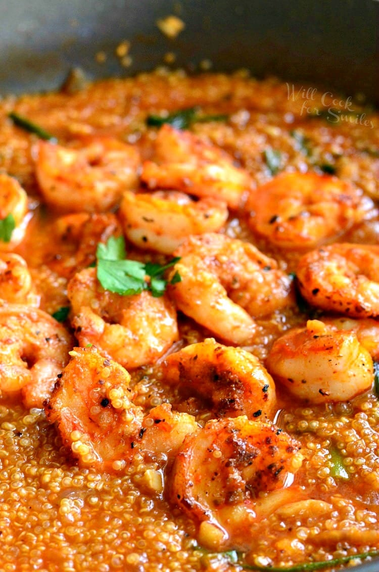 One Pot Cajun Shrimp and Quinoa. from willcookforsmiles.com