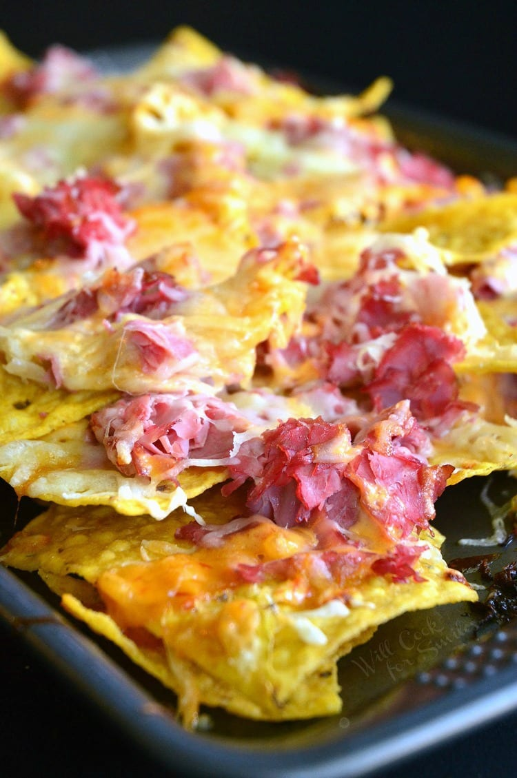 Reuben Nachos | from willcookforsmiles.com