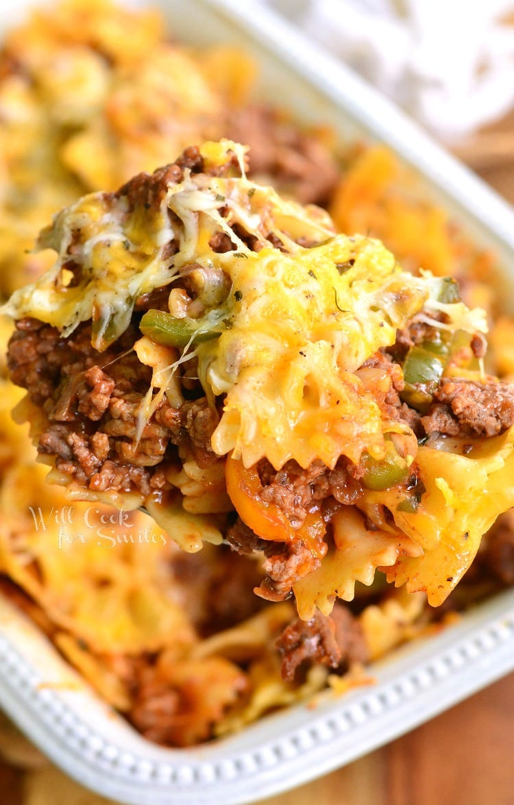 Stuffed Peppers Pasta Casserole. from willcookforsmiles.com
