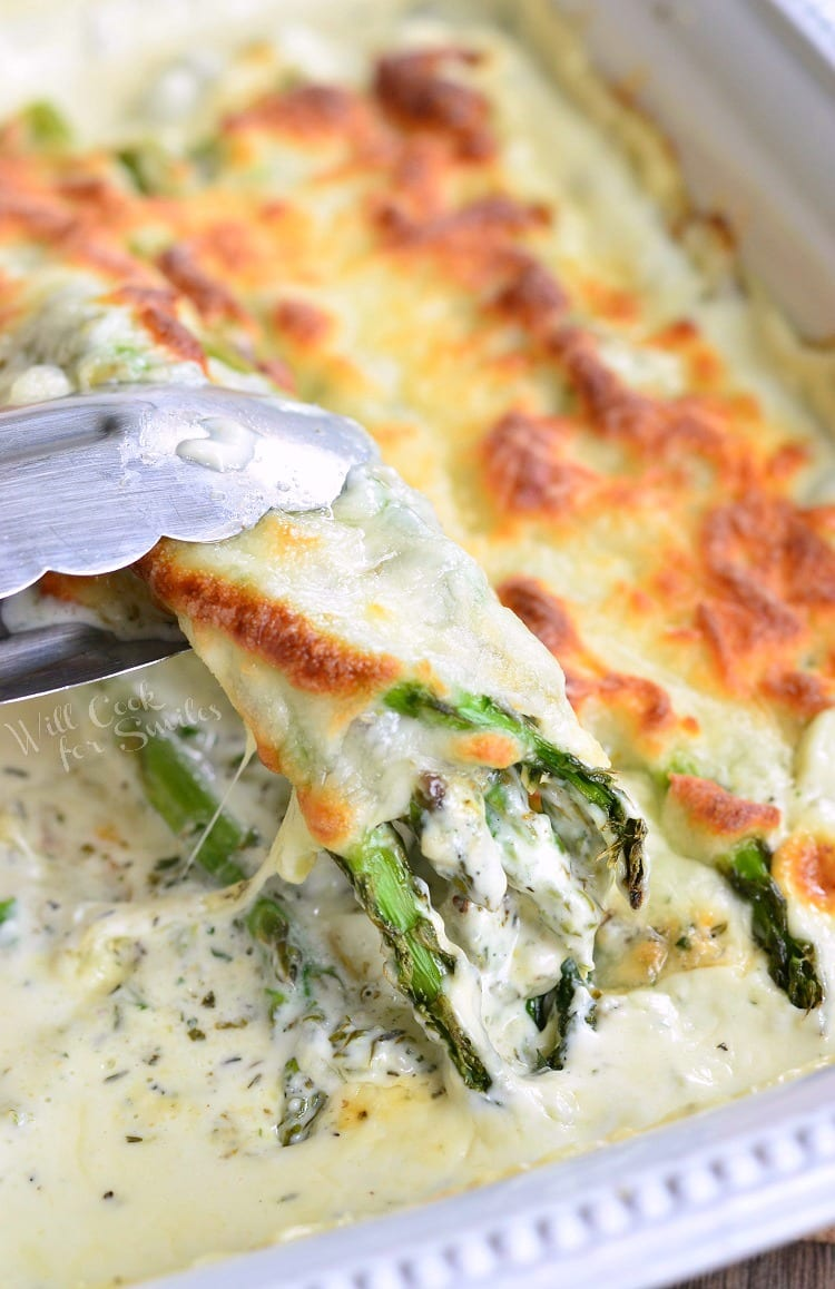 Creamy Italian Asparagus - Will Cook For Smiles
