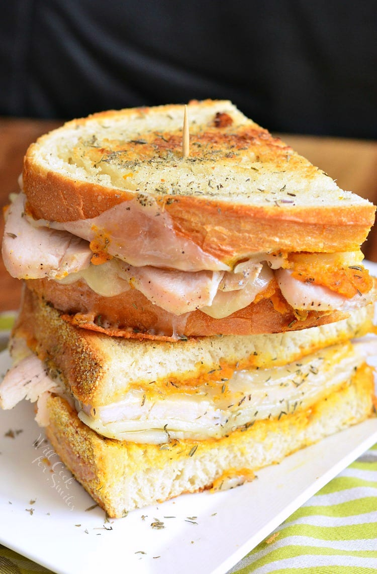 Pumpkin Turkey and Herb Grilled Cheese. from willcookforsmiles.com