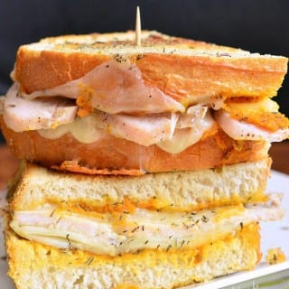 Pumpkin Turkey Grilled Cheese