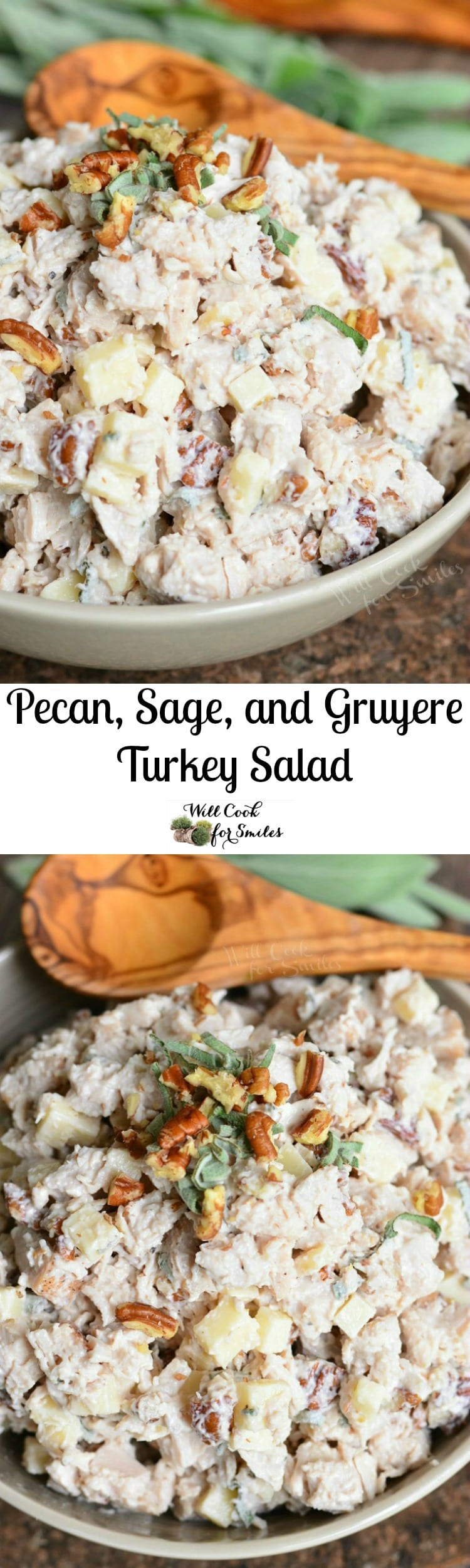 Pecan, Sage, and Gruyere Turkey Salad. Turkey salad is a delicious alternative to a chicken salad and a great way to use leftover turkey.