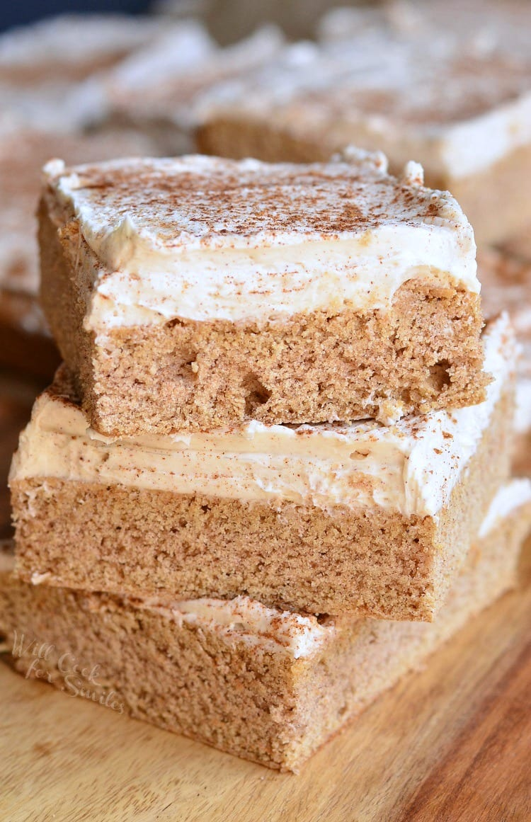 Cinnamon Brown Butter Sugar Cookie Bars. These frosted cookie bars are dressed in some fabulous flavors of brown butter and cinnamon. A beautiful holiday treat!