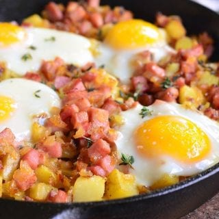Honey Mustard Ham Egg and Potato Bake