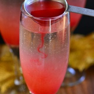 Raspberry Italian Soda Champagne Cocktail