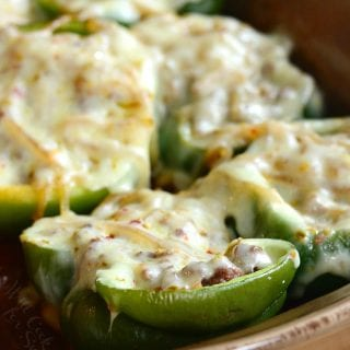 Salisbury Steak Stuffed Peppers