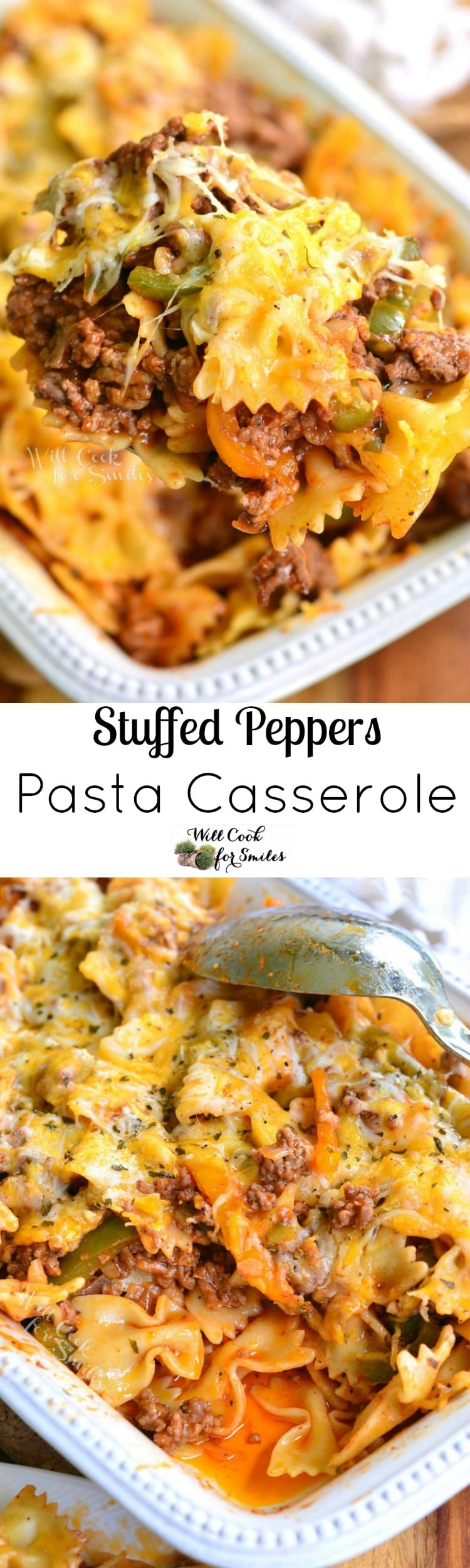 Stuffed Peppers Pasta Casserole. Delicious, simple, and comforting...what else could one want in a great pasta dish?!