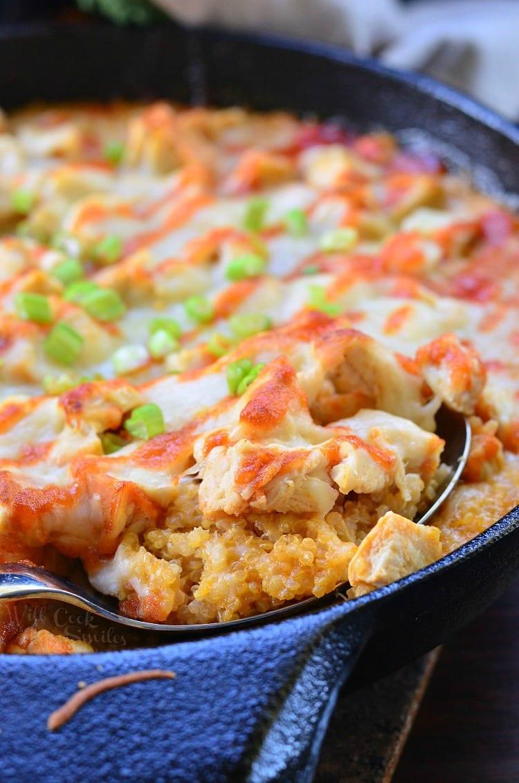 Creamy Sriracha Chicken and Quinoa Bake. from willcookforsmiles.com