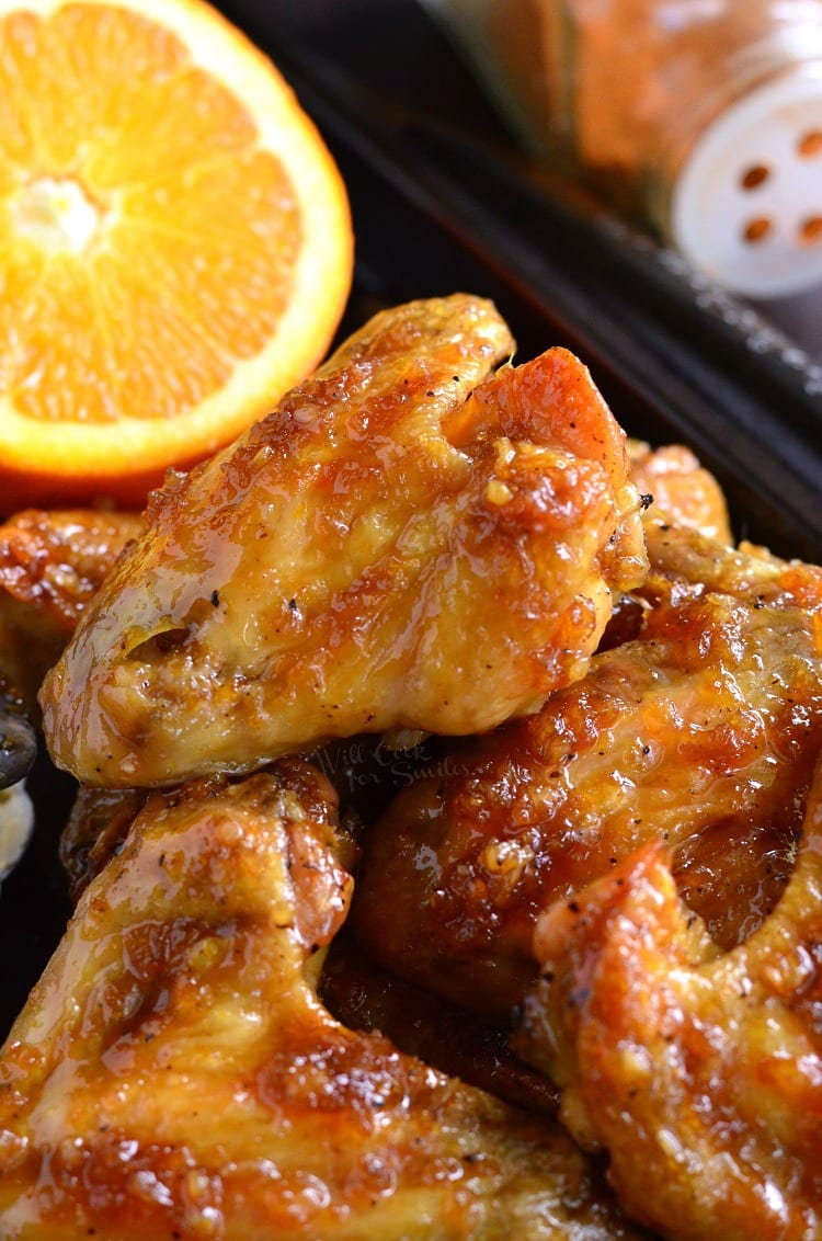 Spicy Orange Chicken Wings. from willcookforsmiles.com