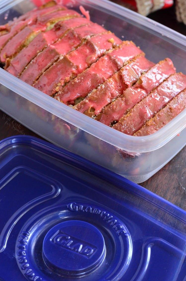 Glazed Strawberry Pound Cake. from willcookforsmiles.com