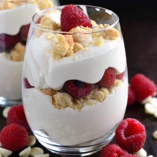 Easy Raspberry White Chocolate Mousse Parfait