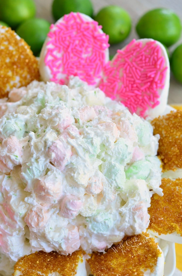 Coconut Key Lime Marshmallow Dip in a bowl