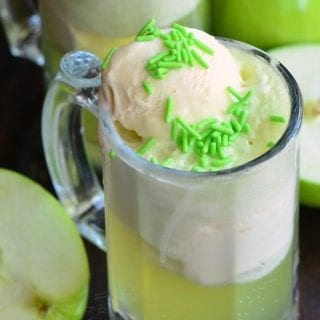 Green Apple Ice Cream Soda Float