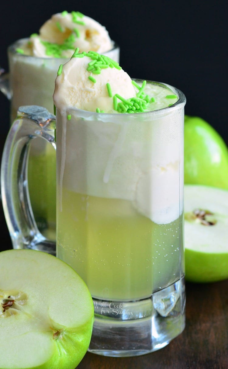 Green Apple Ice Cream Soda Float Will Cook For Smiles