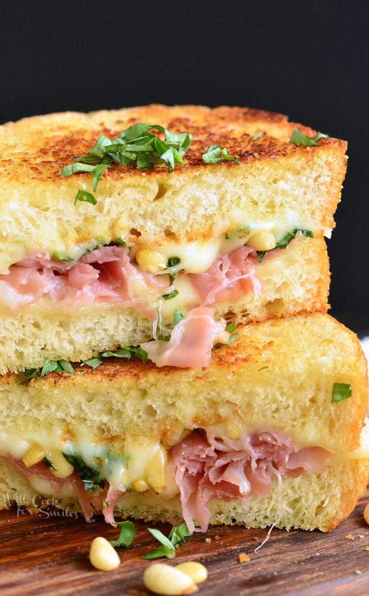 Italian Garlic Bread Grilled Cheese Will Cook For Smiles Cheezy Mozarella Its Made On And Loaded With Gooey Mozzarella