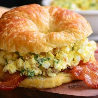 Bacon and Green Onion Egg Salad Sandwich