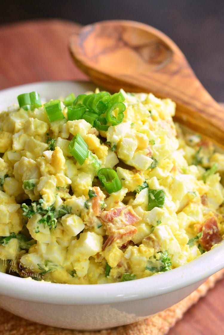 Bacon and Green Onion Egg Salad