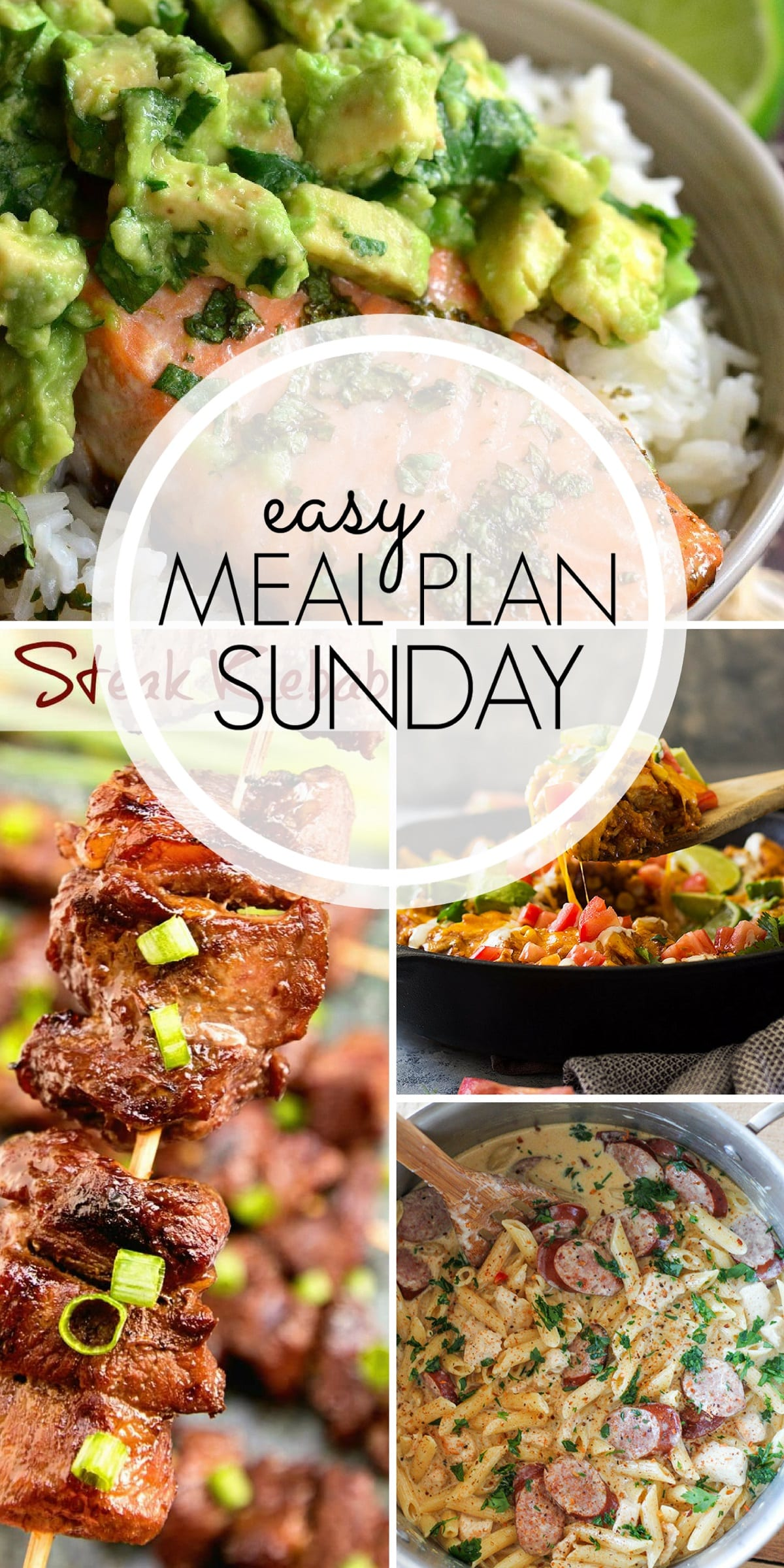 Meal Plan for the week! Enjoy these SIX meals, TWO desserts, ONE breakfast, and ONE healthy option.