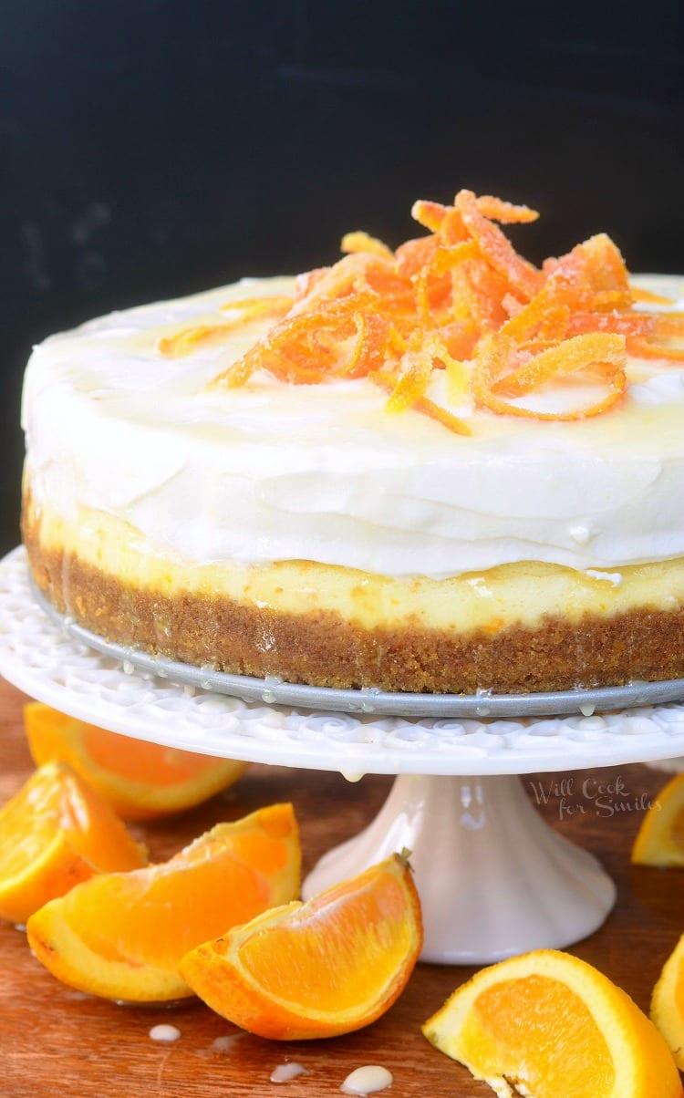 Orange Creamsicle Cheesecake. from willcookforsmiles.com