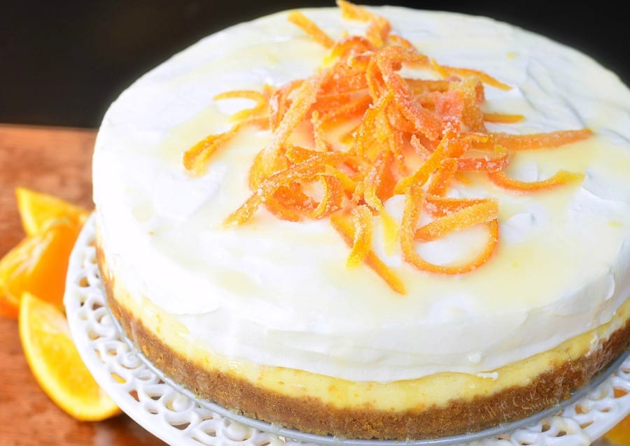 Orange Creamsicle Cheesecake. from willcookforsmiles.com