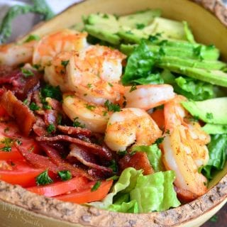 BLTA Shrimp Salad with Light Buttermilk Ranch