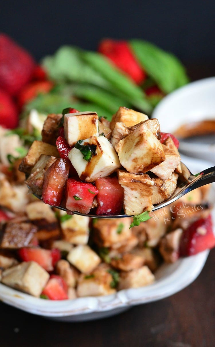 Balsamic Strawberry Chicken Salad. from willcookforsmiles.com