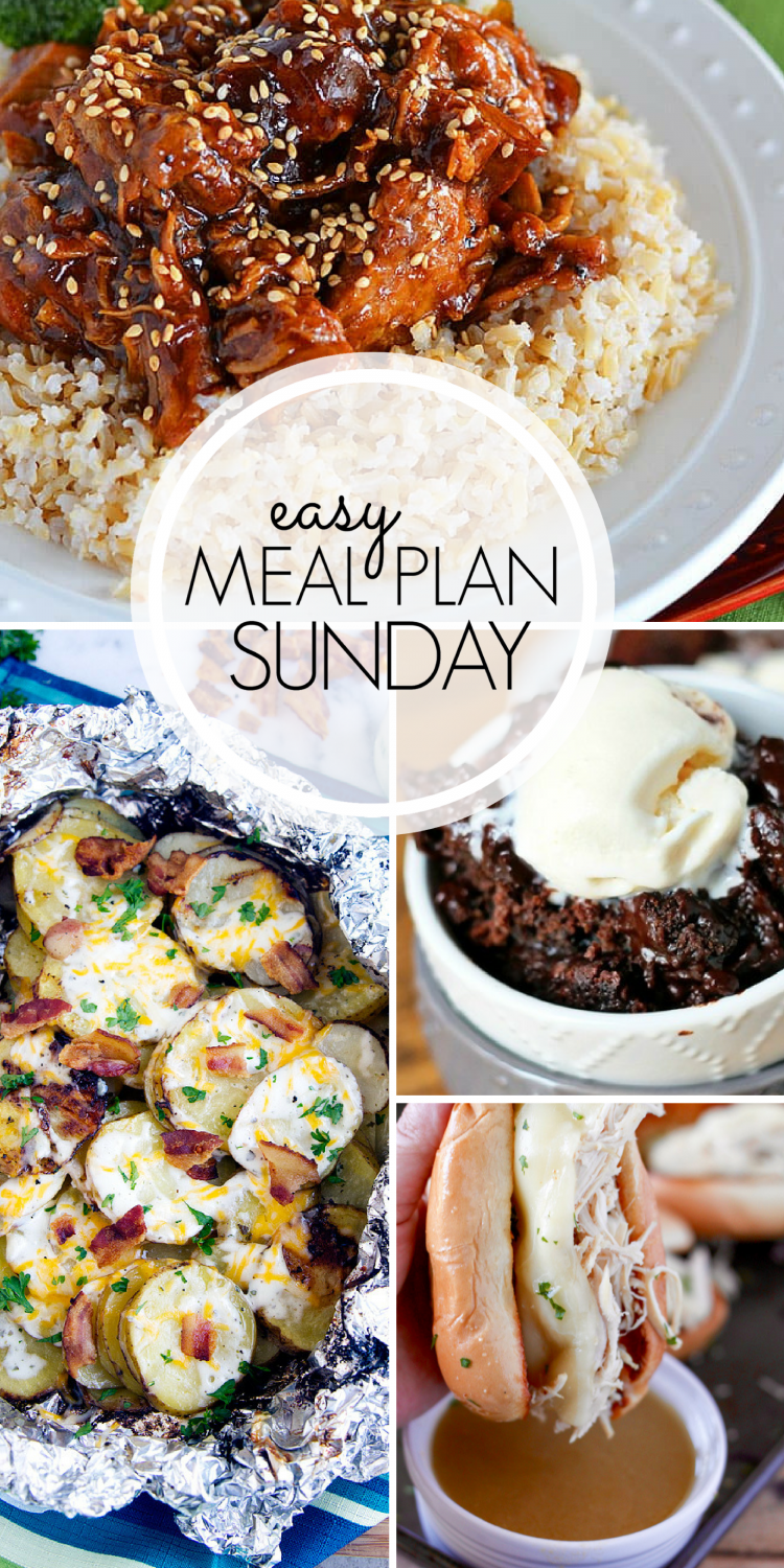 Easy Weekly Meal Plan for the week! Here, you will find SIX meals, TWO desserts, ONE breakfast, and ONE healthy option to help plan your week.