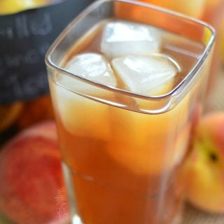 Grilled Lemon Peach Iced Tea