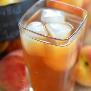 Grilled Lemon Peach Iced Tea