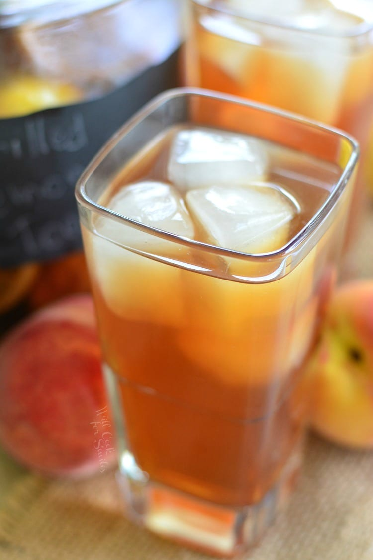 Grilled Lemon Peach Iced Tea. from willcookforsmiles.com