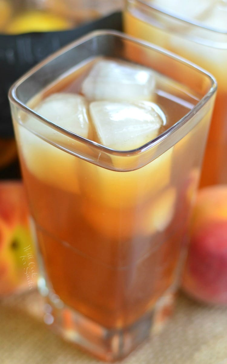 Grilled Lemon Peach Iced Tea. from willcookforsmiles.com
