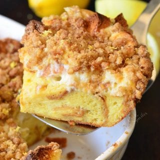 Lemon Cheesecake French Toast Casserole