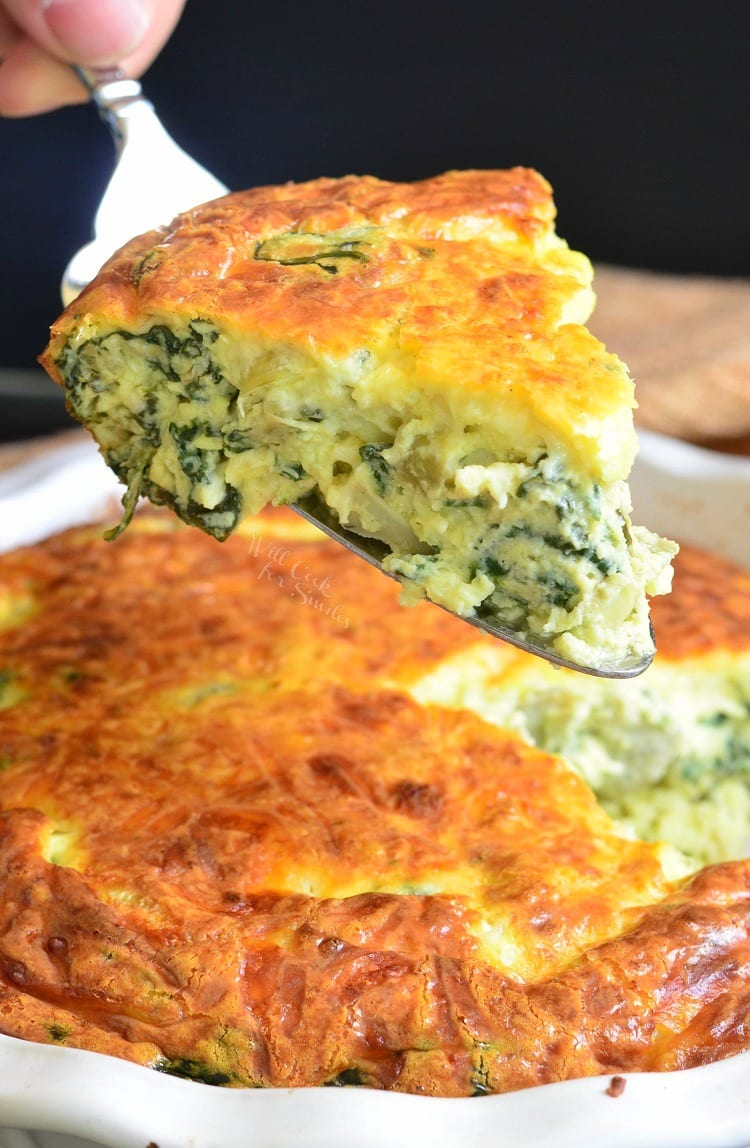 Spinach Artichoke Crustless Quiche Healthier Quiche And Just As Tasty