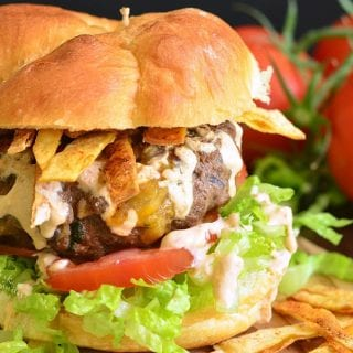 Stuffed Taco Burger