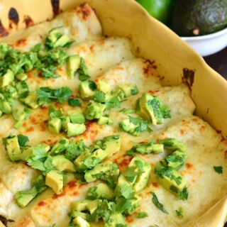 Cheesy Vegetable Enchiladas