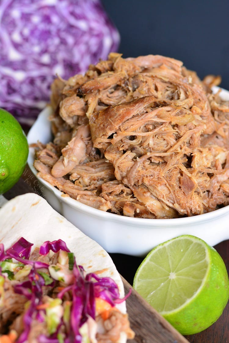 Pulled Pork Tacos with Tropical Slaw from willcookforsmiles.com