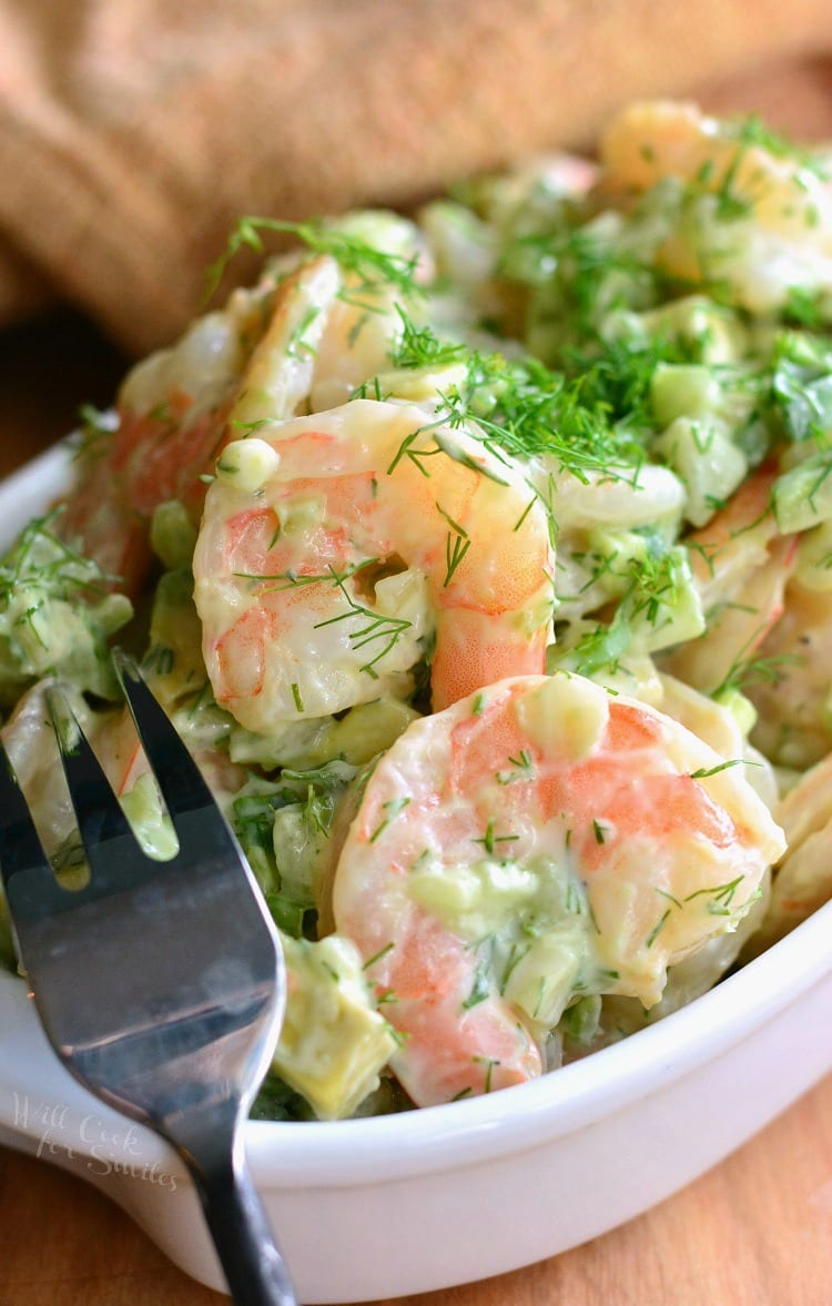 The BEST Avocado Cold Shrimp Salad. from willcookforsmiles.com