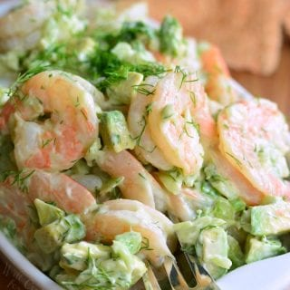 The BEST Avocado Cold Shrimp Salad