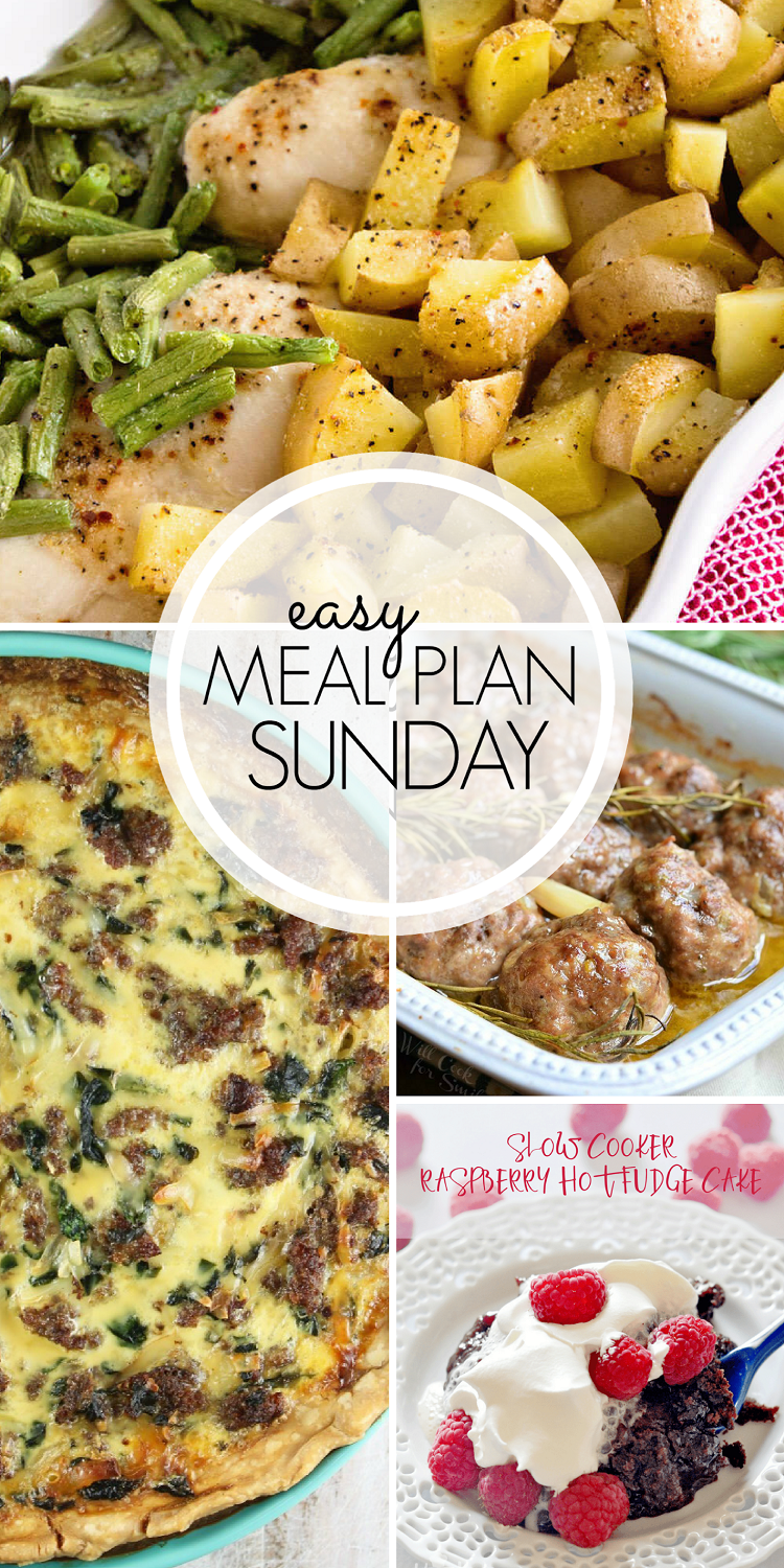 Easy Weekly Meal Plan! Time to plan dinners together with the collection of SIX meals, TWO desserts, ONE breakfast, and ONE healthy option to help plan your week.