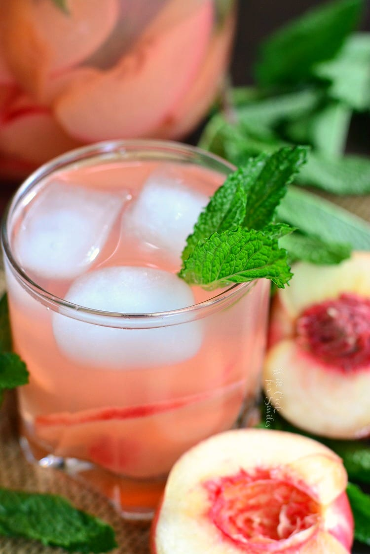Mint Peach Rose Spritzer. from willcookforsmiles.com