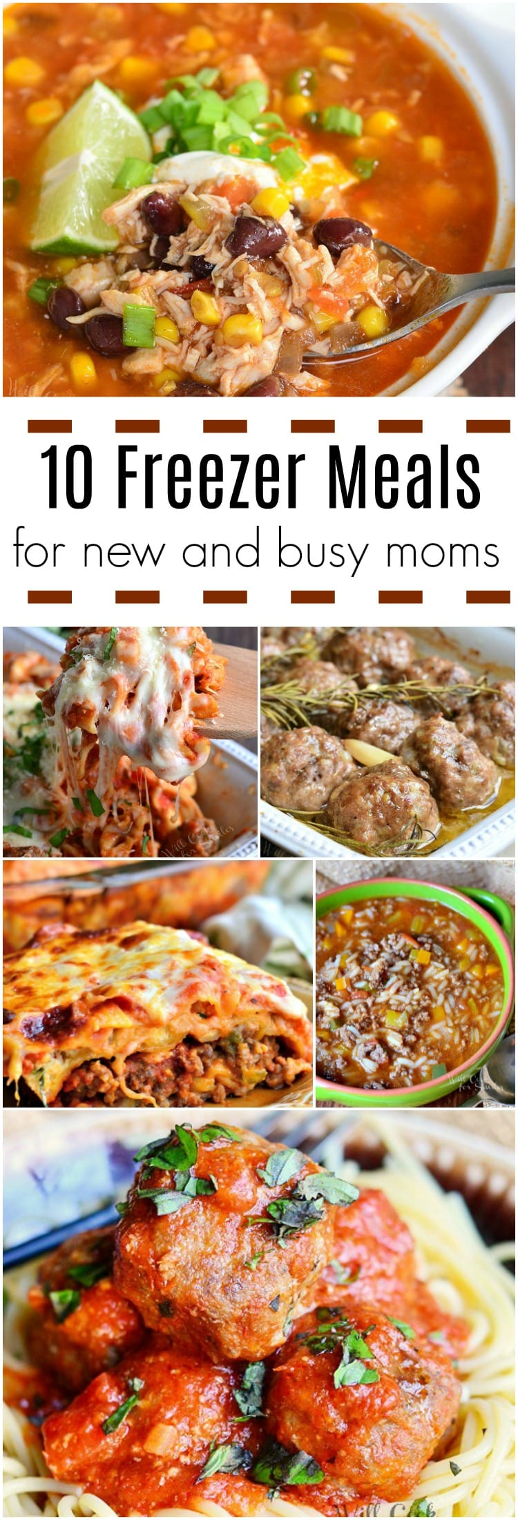 10 Freezer Meals for New and Busy Moms and Tips for Freezing Meals. Read tips about how to freeze food and what are the best kinds of meals to be frozen.